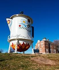 I'd love a cup at the World's Largest Swedish Coffee Pot & Cup in Stanton, Iowa (population 682)
